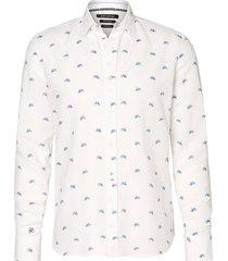 overhemd kent collar long wit