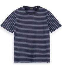 scotch & soda 160847 0220 navy classic cotton stretch t-shirt -