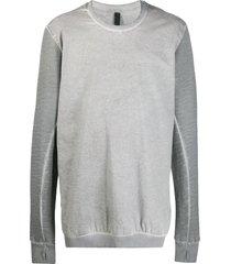 army of me faded effect longline sweatshirt - grey