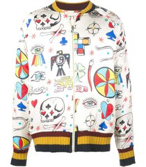 multicolored boomslang bomber jacket