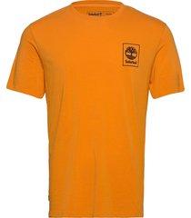 ss back logo camo t t-shirts short-sleeved gul timberland