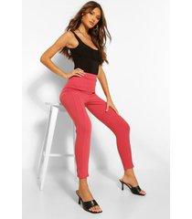 skinny broek van stretchstof met figuurcorrigerende naden, stoffige roos