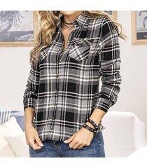 blusa brasil negro para mujer croydon