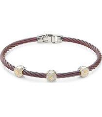 alor women's 18k two-tone gold & diamond cable bracelet