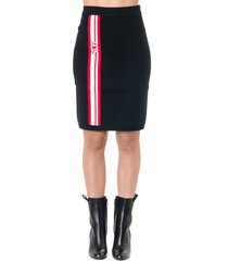 gcds black blend wool skirt