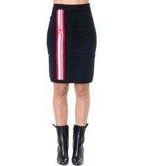 gcds black blend wool skirt