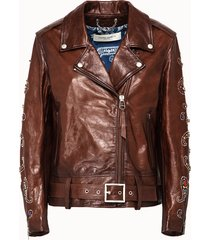 golden goose deluxe brand giacca vittoria in pelle