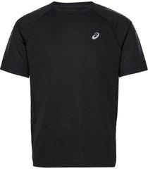 icon ss top t-shirts short-sleeved svart asics