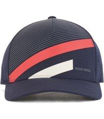 boss men's art stripe-print cap