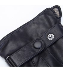 royce new york lambskin men's touchscreen cashmere gloves