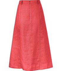rok 100% linnen in a-lijn van peter hahn rood