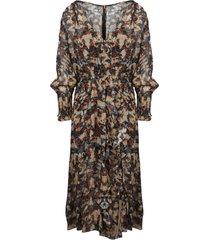 iro printed chiffon long dress