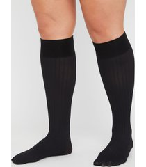 rib trouser socks