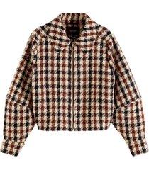 jas tweed multi bruin