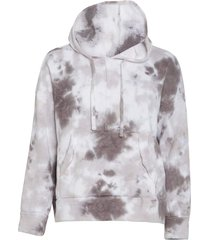 free people women's work it out tie dye hoodie - black combo - x-small cotton top