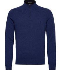 barlo-m knitwear half zip jumpers blå boss