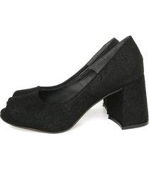 zapato negro miye collazzo stiletto