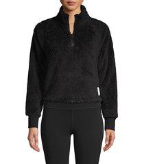 calvin klein performance women's raglan-sleeve fleece pullover - hot magnet - size l