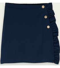 scotch & soda cotton wrap-over mini skirt