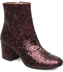 bootie - block heel - with zippe shoes boots ankle boots ankle boot - heel röd angulus
