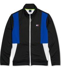 tommy hilfiger adaptive men's mock-neck sweatshirt with magnetic zipper