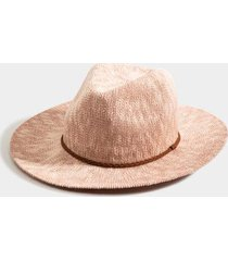 fia panama braided band hat - blush