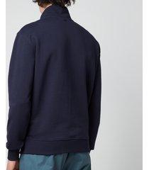 ami men's de coeur quarter zip sweatshirt - navy - xl