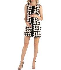 24seven comfort apparel geometric pattern sleeveless maternity dress