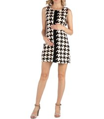 24seven comfort apparel geometric pattern sleeveless maternity dress