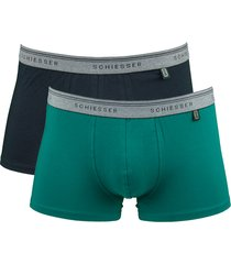 schiesser boxershort 95-5 2-pak groen-blauw