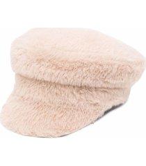 ruslan baginskiy light beige baker boy hat