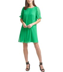 dkny pleated shift dress