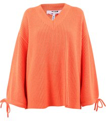 msgm relaxed fit sweater