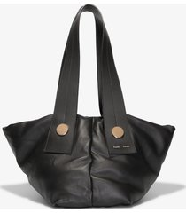 proenza schouler large puffy tobo tote 0000 black one size