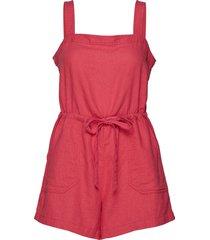 square-neck cami romper jumpsuit rosa gap
