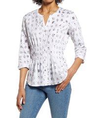 women's nic+zoe cafe button-up shirt, size xx-large - white