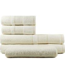 jogo de toalhas de banho 5 peças fio penteado appel splendore pérola