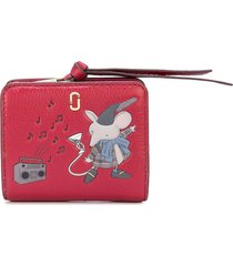 marc jacobs the softshot mouse mini compact wallet - red