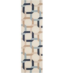 "martha stewart collection color chain msr4563b bluestone 2'3"" x 8' runner area rug"