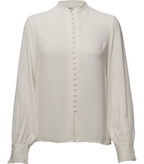 sheer button blouse blouse lange mouwen crème filippa k