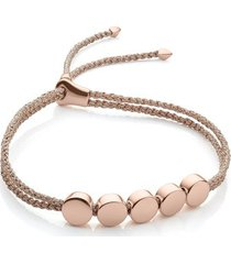 rose gold linear bead friendship bracelet