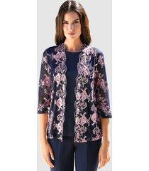2-in-1-shirt klingel marine::roze