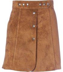 prada suede trapezoid mini skirt