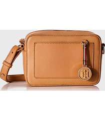 cartera int saffiano charm crossover classic  beige tommy hilfiger