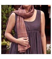 silk scarf, 'bold spice' (thailand)