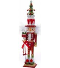 kurt adler 15-inch hollywood red and green tree hat nutcracker