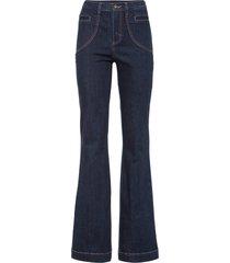 jeans a zampa con poliestere riciclato (nero) - rainbow
