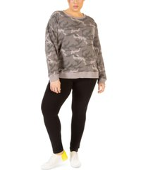 black tape plus size camo-print sweatshirt