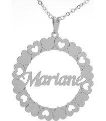gargantilha horus import mandala mariane banho prata 1000 - 2060167