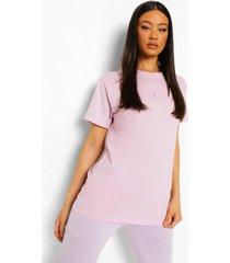 geborduurd zon t-shirt, lilac